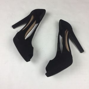 Emporio Armani Heels Open Toe Suede Leather Sz 42
